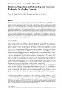 Elections, Opportunism, Partisanship and Sovereign Ratings ... - SSRN