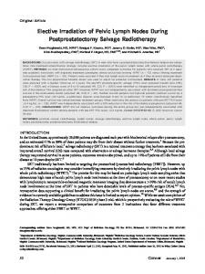 Elective irradiation of pelvic lymph nodes during ... - Wiley Online Library
