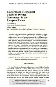 Electoral and Mechanical Causes of Divided ... - Semantic Scholar