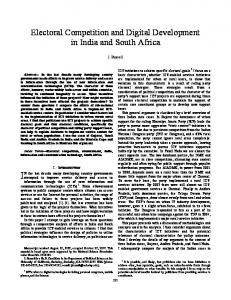 Electoral Competition and Digital Development in India and South Africa