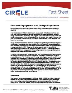 Electoral Engagement and College Experience - Civic Youth