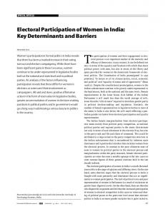 Electoral Participation of Women in India: Key Determinants ... - CSDS