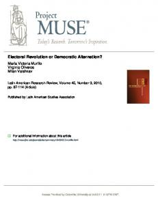 Electoral Revolution or Democratic Alternation? - WordPress.com