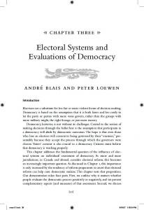Electoral Systems and Evaluations of Democracy