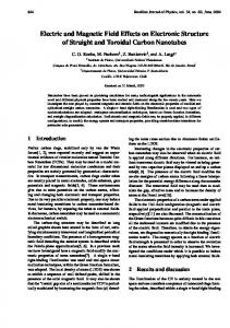 Electric and Magnetic Field Effects on Electronic Structure of Straight