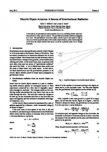 Electric Dipole Antenna: A Source of ... - Progress in Physics
