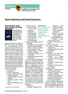 Electric Machines and Power Electronics - IEEE Xplore