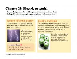 Electric potential - Brock University - Department of Physics