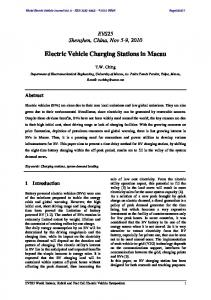 Electric Vehicle Charging Stations in Macau - MDPI