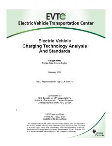 Electric Vehicle Charging Technology Analysis And Standards