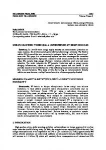 Electric Vehicles: A contemporary Business Case - Transport ...
