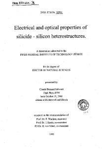 Electrical and optical properties of - CiteSeerX