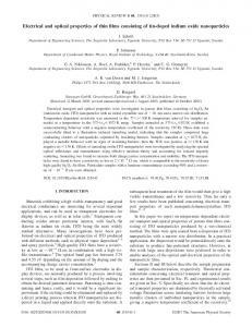 Electrical and optical properties of thin films consisting of tin-doped