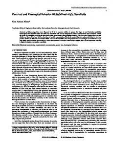 Electrical and Rheological Behavior Of Stabilized