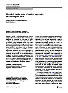 Electrical conductance of carbon nanotubes with ...