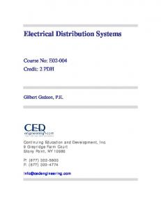 Electrical Distribution Systems - CED Engineering