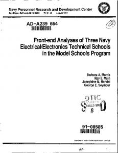 Electrical/Electronics Technical Schools - Defense Technical ...
