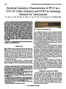 Electrical Insulation Characteristics of PPLP as a HTS ... - IEEE Xplore
