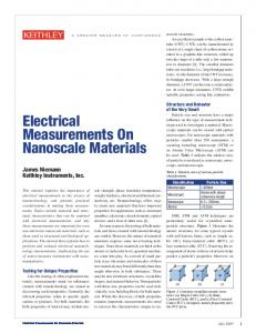 Electrical Measurements On Nanoscale Materials - Keithley ...