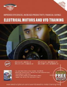 ELECTRICAL MOTORS AND VFD TRAINING - Electricity Forum