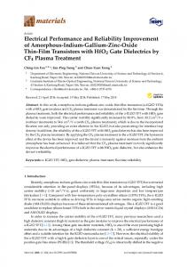 Electrical Performance and Reliability Improvement of ... - MDPI