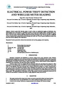 electrical power theft detection and wireless meter reading