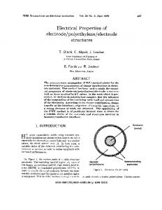 Electrical properties of electrode/polyethylene/electrode ... - IEEE Xplore