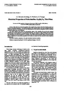 Electrical Properties of Policristalline Ge2Sb2Te5 Thin Films