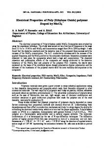 Electrical Properties of Poly (Ethylene Oxide) polymer Doped by MnCl2