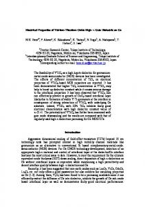 Electrical Properties of Yttrium-Titanium Oxide High-k Gate Dielectric ...