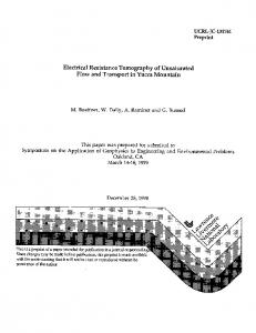 Electrical Resistance Tomography of Unsaturated ... - Site Index Page