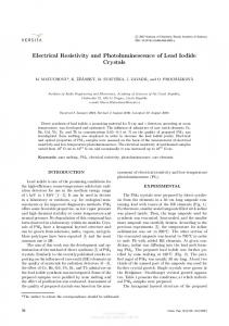 Electrical resistivity and photoluminescence of lead