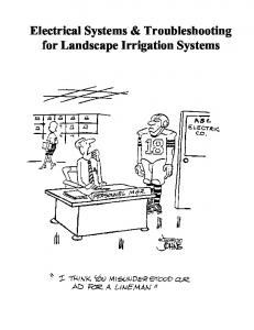 Electrical Systems & Troubleshooting for Landscape Irrigation Systems