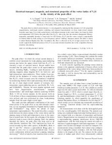 Electrical transport, magnetic, and structural properties of the vortex ...