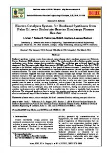 Electro-Catalysis System for Biodiesel Synthesis from