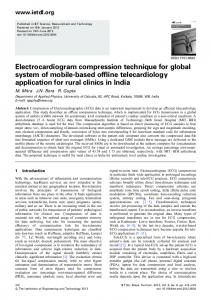 Electrocardiogram compression technique for global ... - IEEE Xplore
