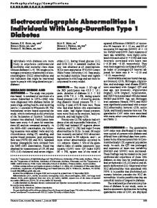 Electrocardiographic Abnormalities in Individuals With ... - Diabetes Care