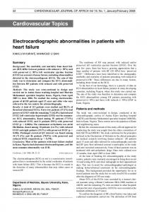 Electrocardiographic abnormalities in patients with heart failure