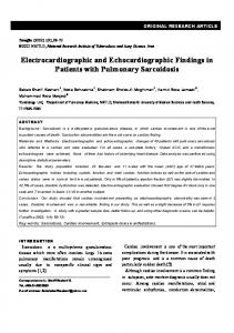 Electrocardiographic and Echocardiographic Findings in ... - Tanaffos