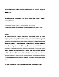 Electrocatalysis and electron transfer mechanisms in the reduction of ...