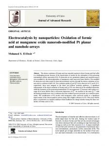 Electrocatalysis by nanoparticles: Oxidation of formic ... - CyberLeninka