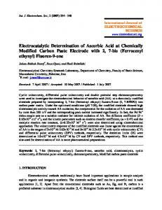 Electrocatalytic Determination of Ascorbic Acid at Chemically Modified ...