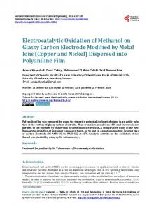 Electrocatalytic Oxidation of Methanol on Glassy Carbon Electrode