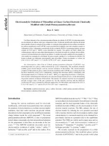 Electrocatalytic Oxidation of Thiosulfate at Glassy Carbon Electrode ...