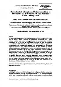 Electrochemical, Adsorption and Anticorrosion Study on Fluvoxamine ...