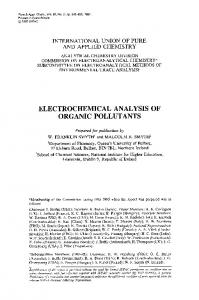 electrochemical analysis of organic pollutants