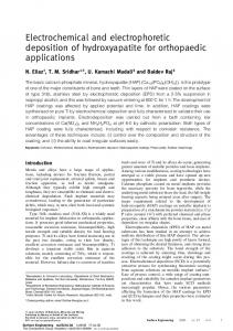 Electrochemical and electrophoretic deposition of hydroxyapatite for