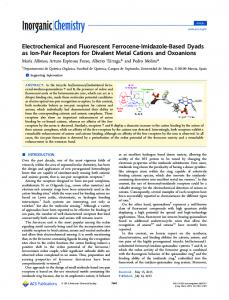 Electrochemical and Fluorescent Ferrocene ... - ACS Publications