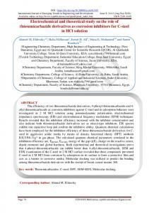 Electrochemical and theoretical study on the role of ... - RS Publication