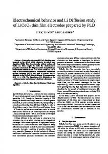 Electrochemical behavior and Li Diffusion study of LiCoO2 thin film ...